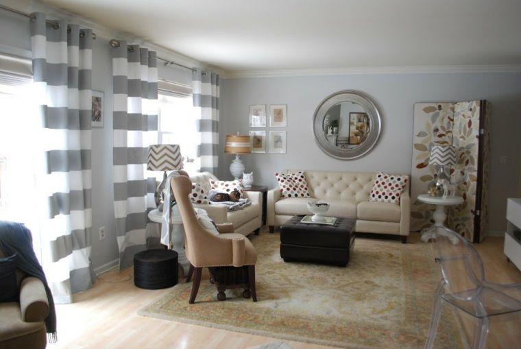 cortinas tendencias actuales salones Salas Pinterest Cortinas