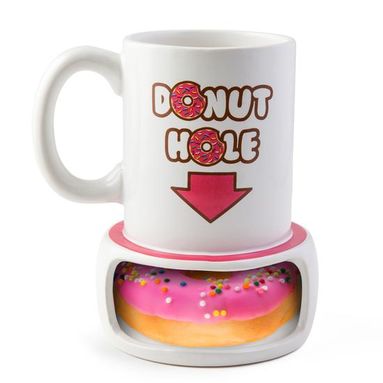 Donut Hole Coffee Mug Coffee and donuts, Funny coffee