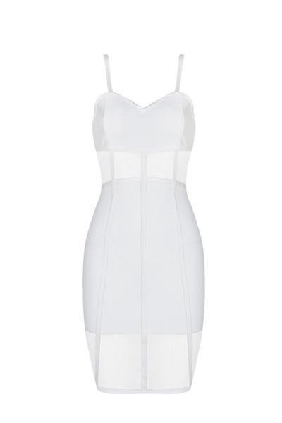 Honey Couture ROSY White Sheer Mesh Insert Bandage Dress: Vendor: Honey Couture Type: Bandage Dress Price: 159.95 This classic elegance…