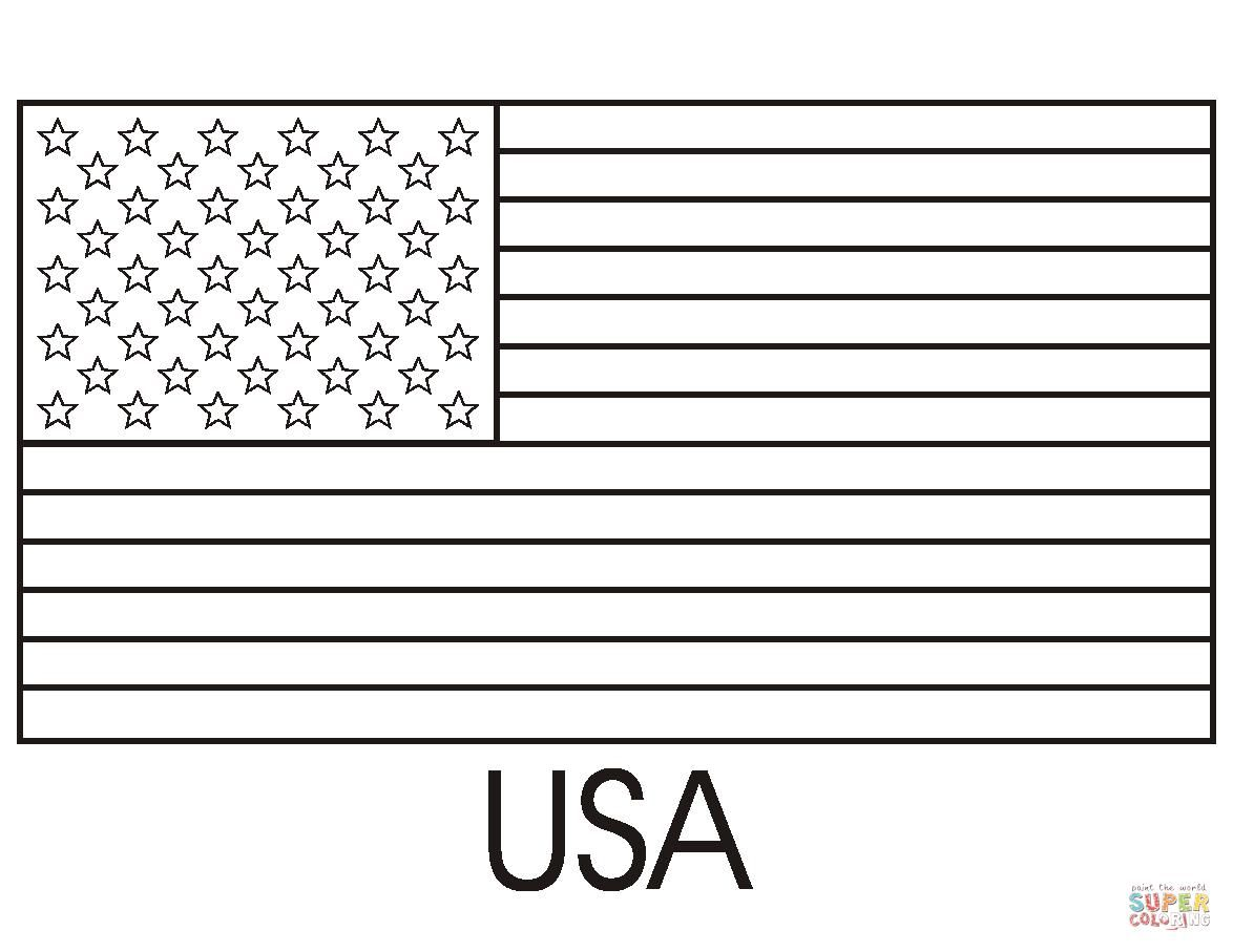 Awesome Coloring Page Usa Flag That You Must Know You Re
