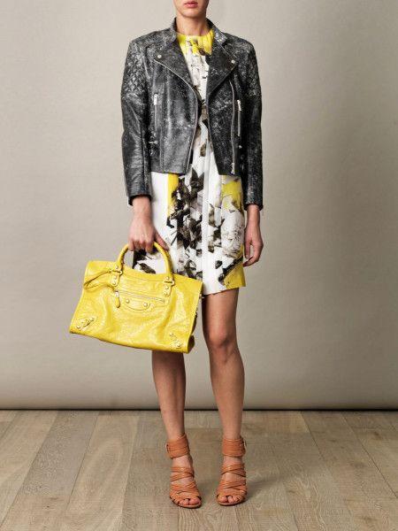 3377e27d1e2df4 balenciaga yellow mini city bag | Balenciaga Giant City Bag in Yellow - Lyst