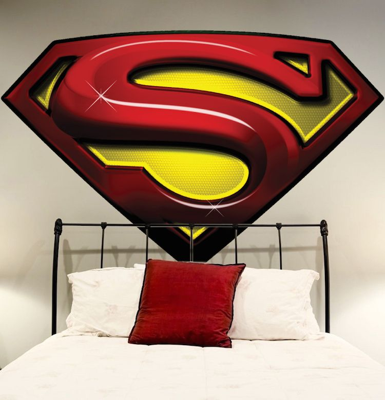 Custom Name Superman Wall Decal Baby Boy Kids Decor Personalized