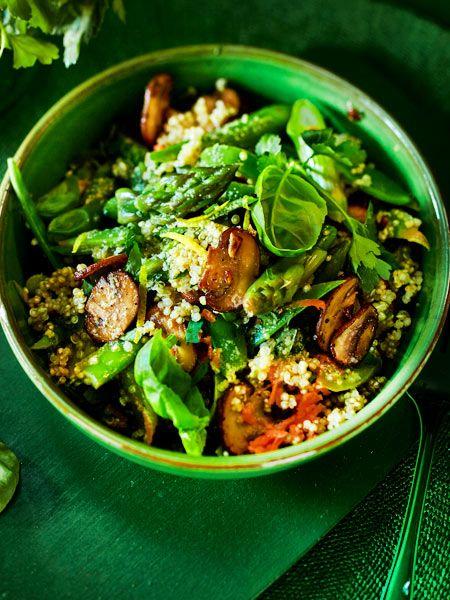 Photo of Warm quinoa asparagus salad