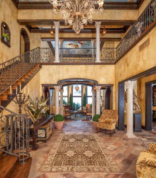 Mediterranean Tuscan Style Homes: This Mediterranean/European Inspired Waterfront Mansion Is