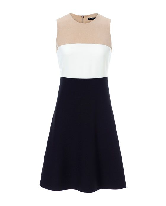 ZARA - WOMAN - TRI-COLOR MIDI DRESS