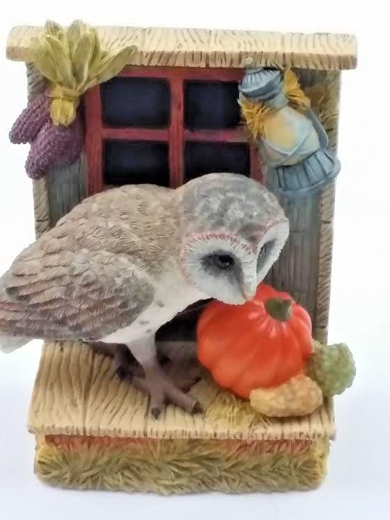 Your Big Backyard Part - 26: Autumn Harvest Owl Owls In Your Big Backyard Figurine Collection 1998  Pumpkin