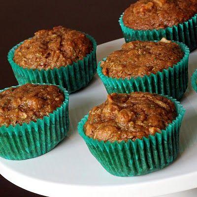 Healthy Zucchini Apple Muffins