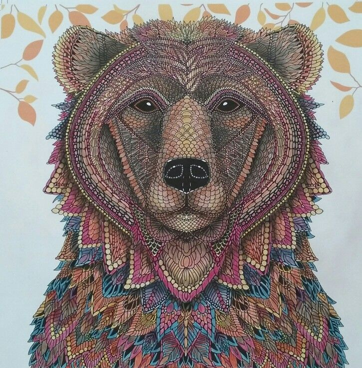 The Bear From The Menagerie Colouring Book Animal Coloring Books Bear Art Coloring Book Art