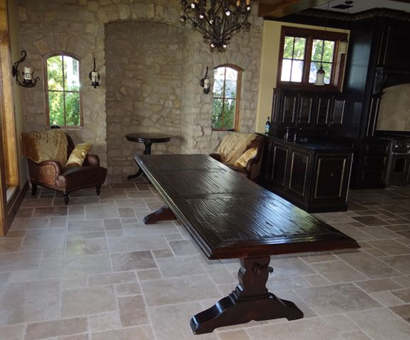Rustic Tables Mission Dining Table Tuscan Room Furniture Farmhouse