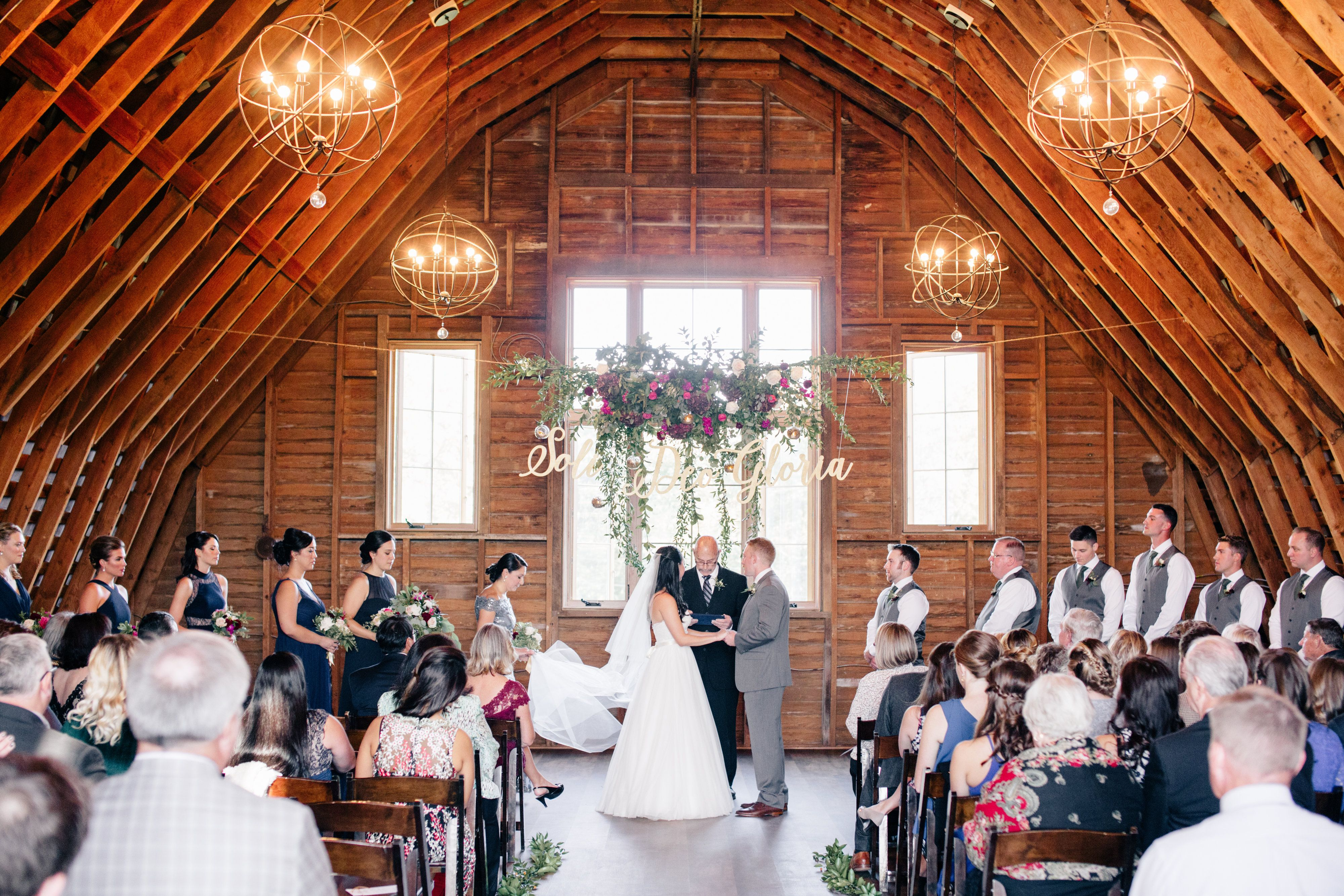 Indoor Barn Wedding Ceremony Inspiration | Navy fall ...