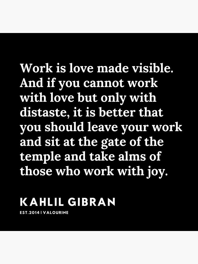 5 |  19119 | Kahlil Gibran Quotes  Poster by valourine