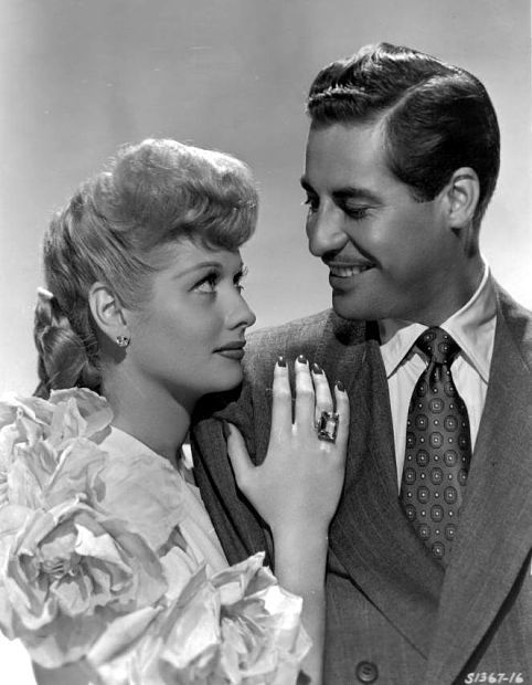 Publicity Photo For The 1946 Film Two Smart People With John Hodiak And The Ring Is Said To Be The Engagement Ring Lucille Ball Girl Movies Classic Movie Stars