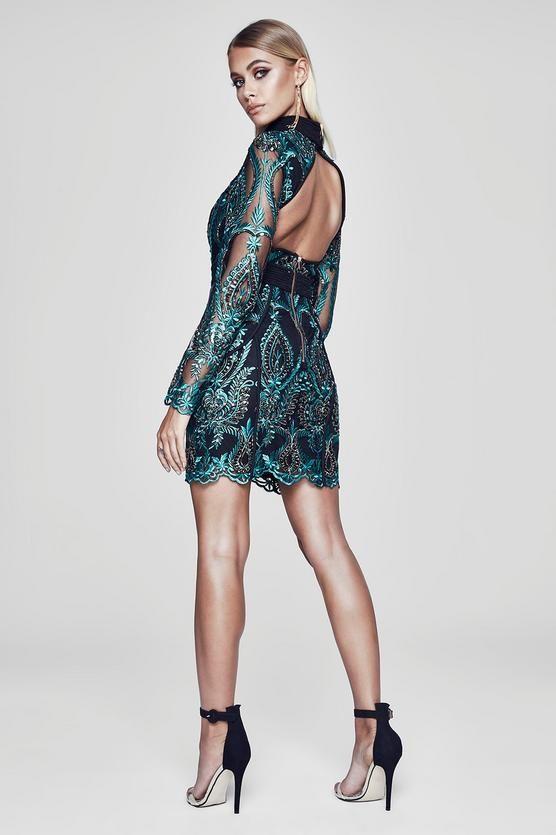 f1acd5d8 Premium Isabelle Open Back Sequin Dress in 2019   WORK   Sequin ...