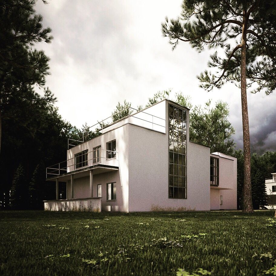 The Masters Houses In #Dessau By Walter #Gropius / Bauhaus