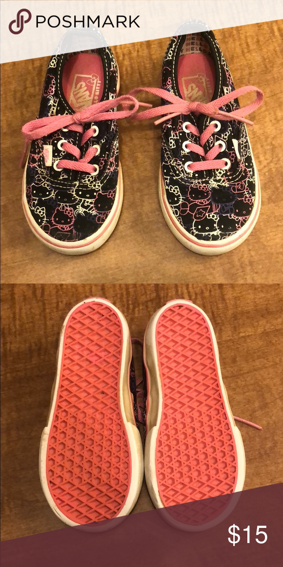 feed12801f7cce Hello Kitty Vans size 7 toddler Vans size 7T Decent condition Vans Shoes