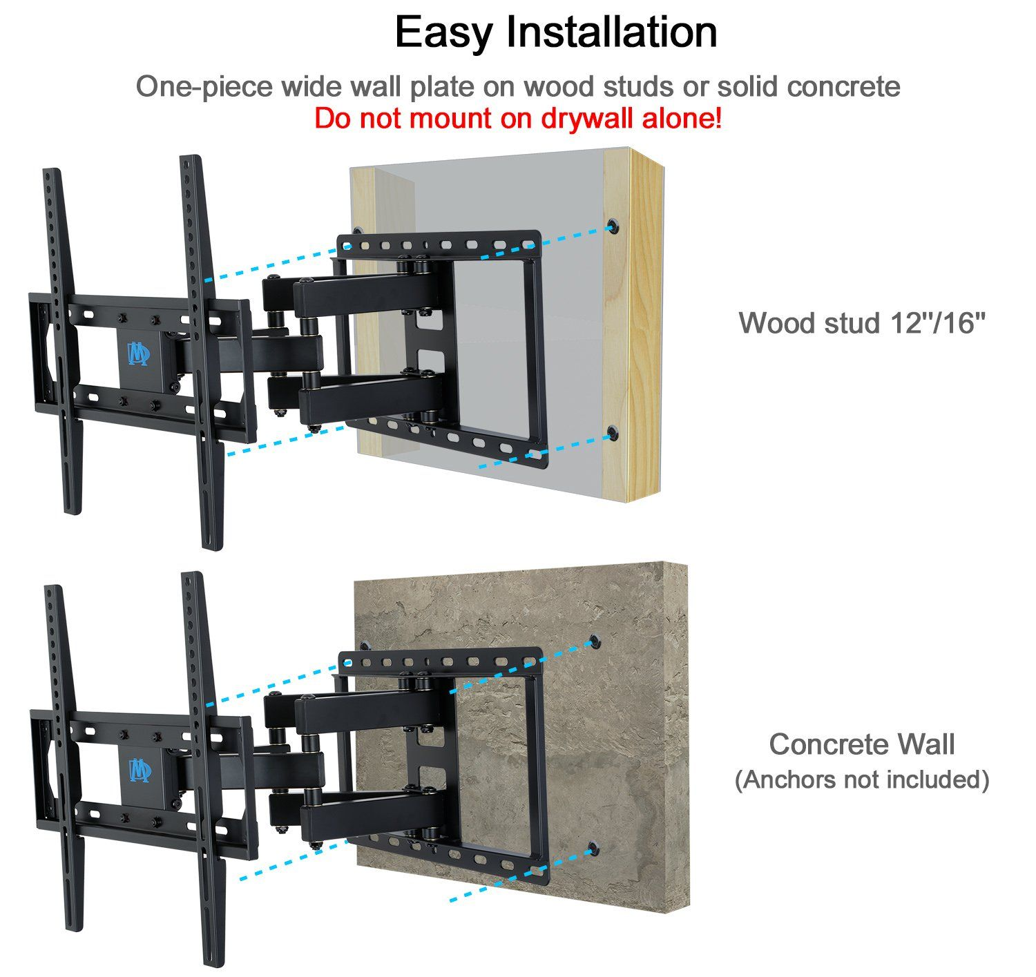 Mounting Dream Md2380 Tv Wall Mount Bracket For Most 2655 Inch Led Lcd Oled And Plasma Flat Screen Tv With Full M Tv Wall Mount Bracket Wall Mounted Tv Tv Wall