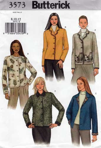 McCall/'s 3792 Misses/' Unlined Jackets   Sewing Pattern