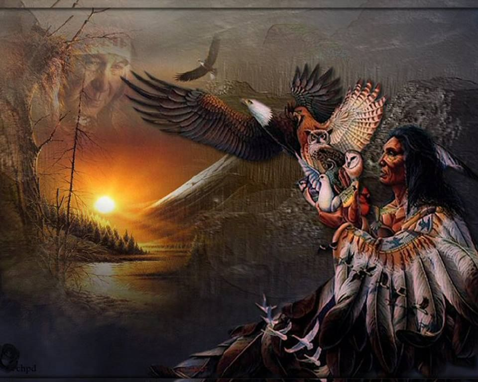 Wallpaper native american