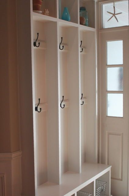 Narrow coat/boot storage for entry - double hooks for bags and coats & Narrow coat/boot storage for entry - double hooks for bags and coats ...