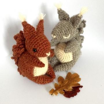 Coco The Squirrel amigurumi pattern by Irene Strange