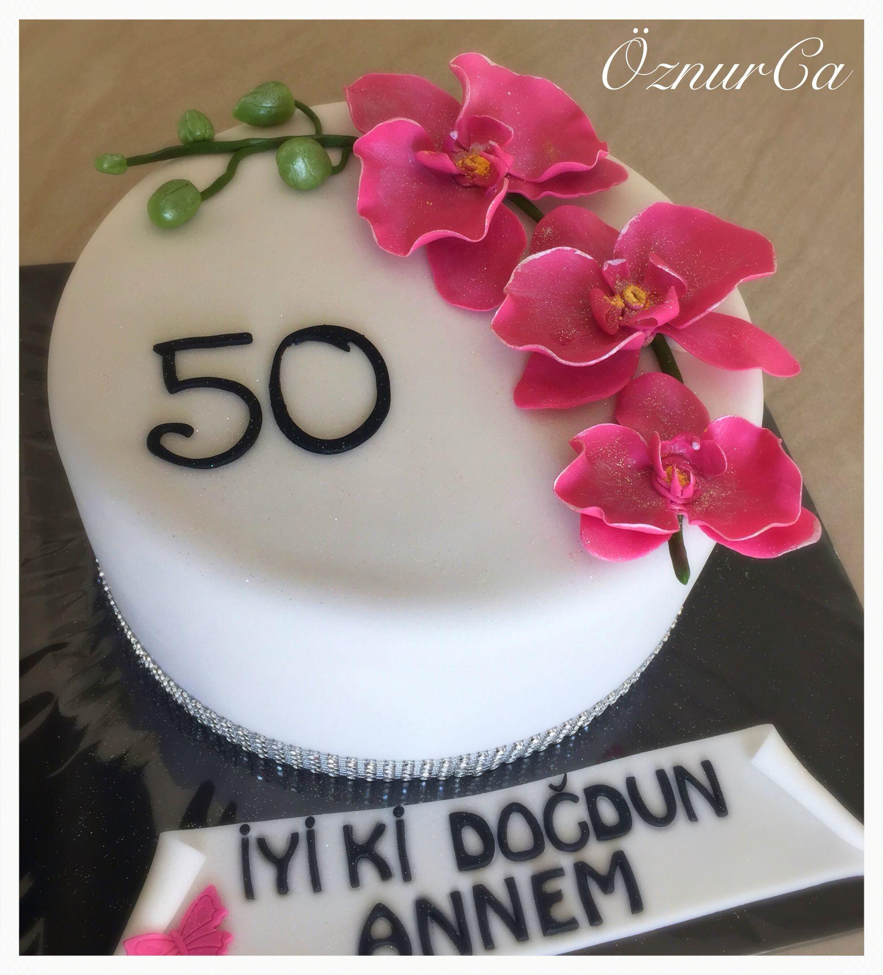 Orchideen Torte 50 Geburtstag  Meine Torten  Torte 50