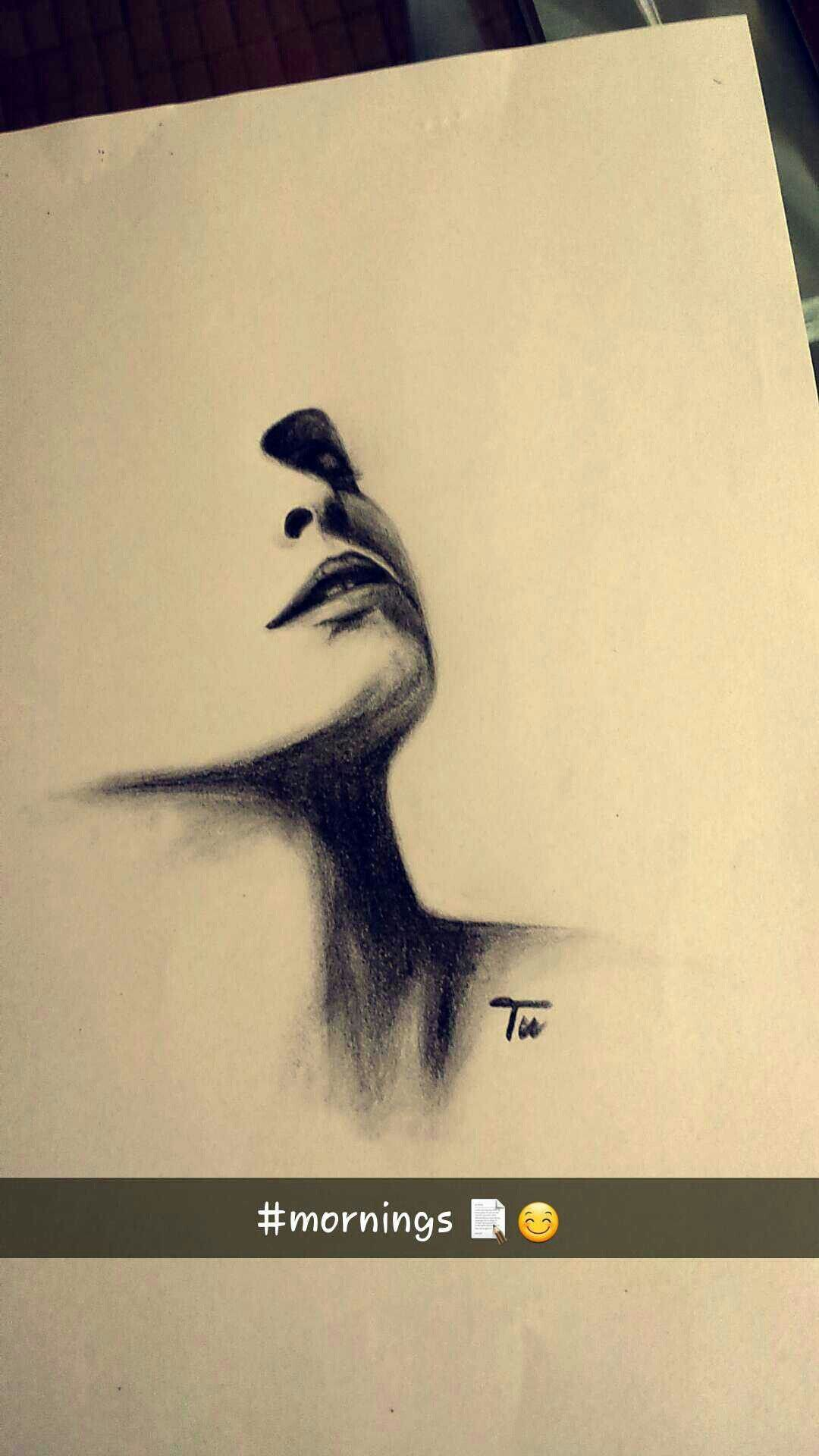 Pencil drawing by me high contrast drawing