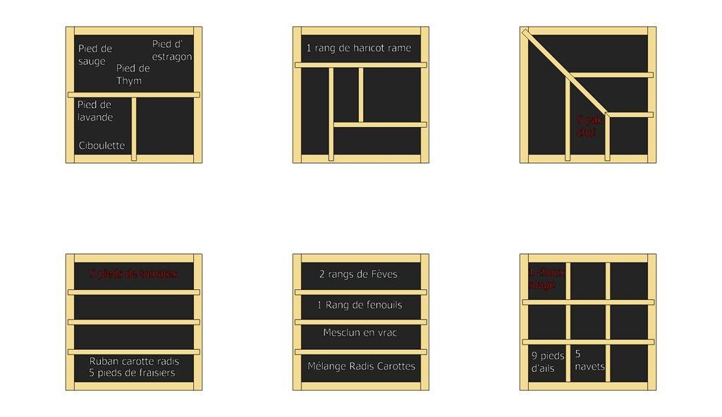 planification potager debutant jardin pinterest. Black Bedroom Furniture Sets. Home Design Ideas