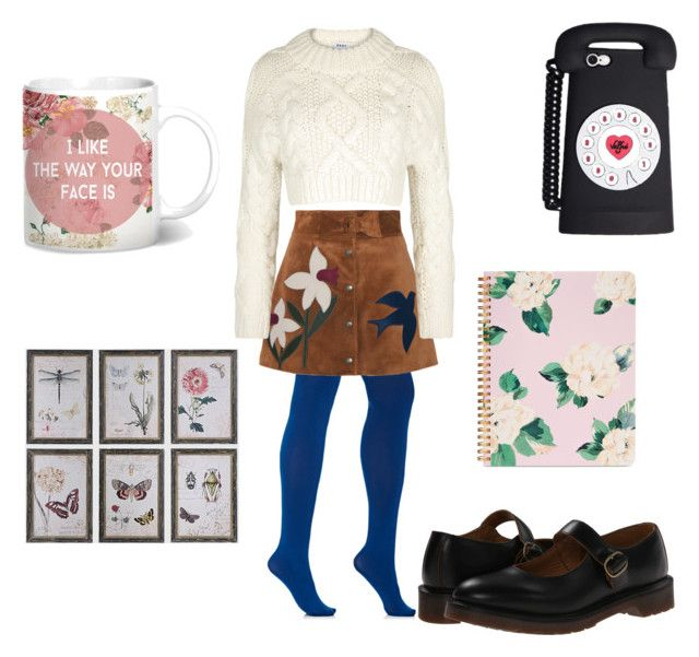 """""""Untitled #16"""" by dcrc on Polyvore featuring Wolford, RED Valentino, DKNY, Dr. Martens, ban.do and WALL"""