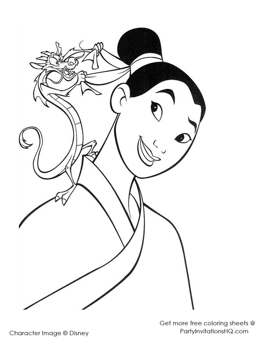 12 Striking Mulan Coloring Pages | play: coloring | Pinterest