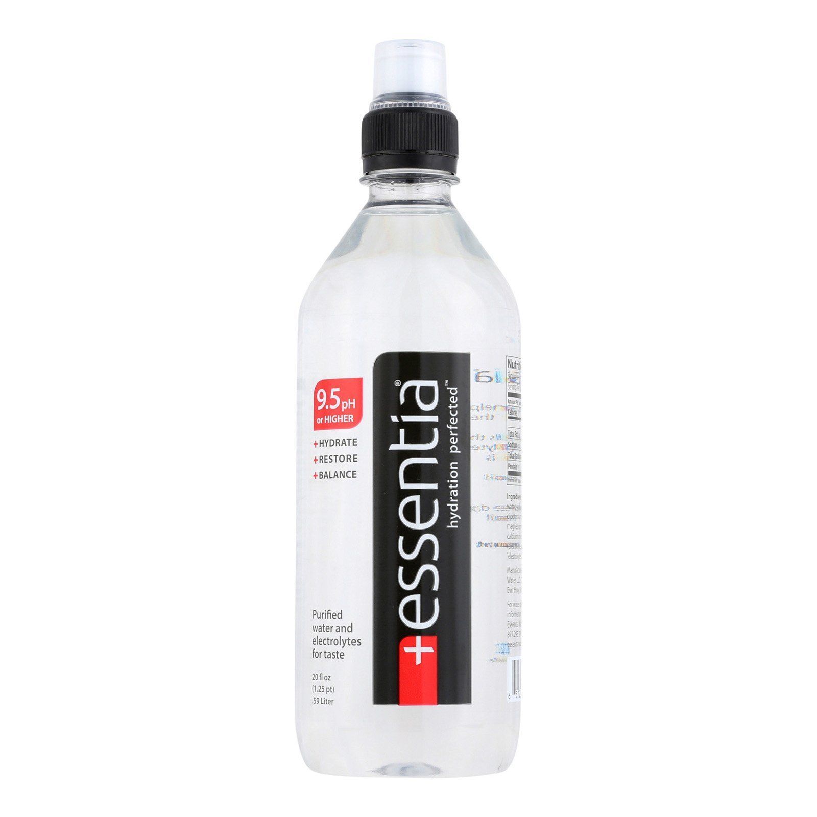 Essentia Hydration Perfected Drinking Water 9 5 Ph Case Of 24