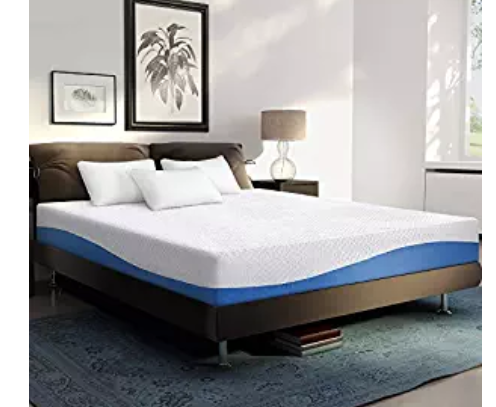 Primasleep Wave Gel Infused Memory Foam Mattress 10 H Queen Blue Mattress Foam Mattress Bed Frame Mattress Buying