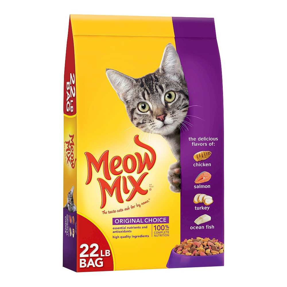 Meow Mix Original Choice Dry Cat Food 22lbs In 2020 Cat Food Coupons Kitten Food Dry Cat Food