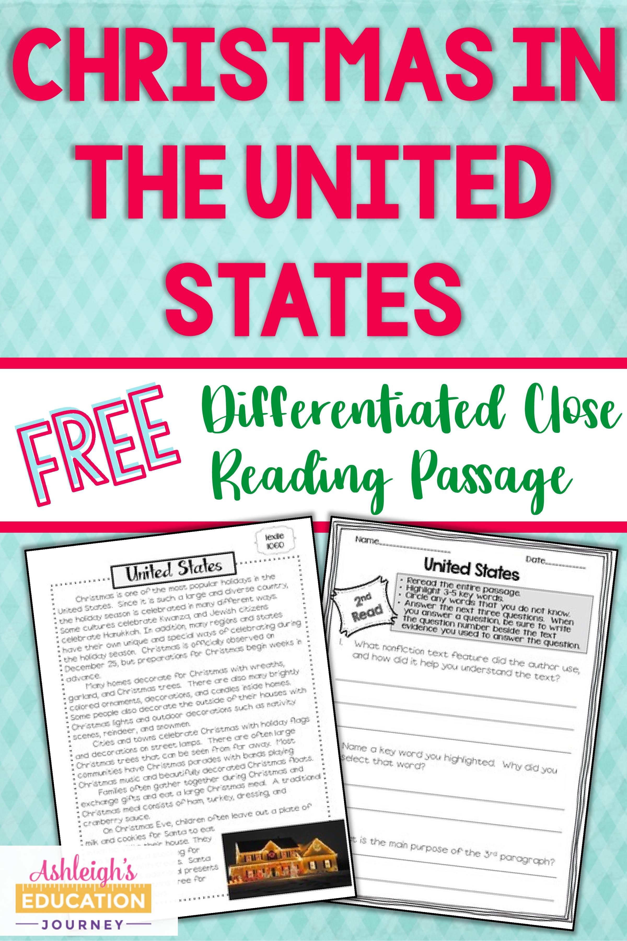 Holidays Around The World Ashleigh S Education Journey Holiday Reading Passages Reading Passages Free Reading Passages [ 3600 x 2400 Pixel ]