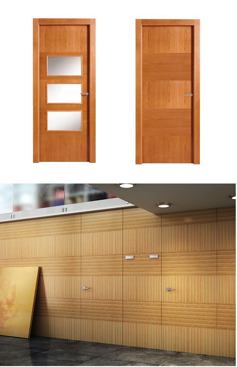 Puerta de interior clara modelo kiev de la serie lisa de for Modelos de puertas de madera
