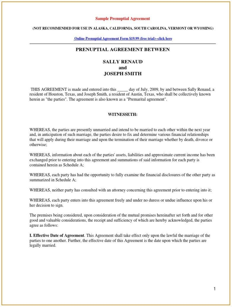 Prenuptial Agreement Template Texas Template Resume Examples