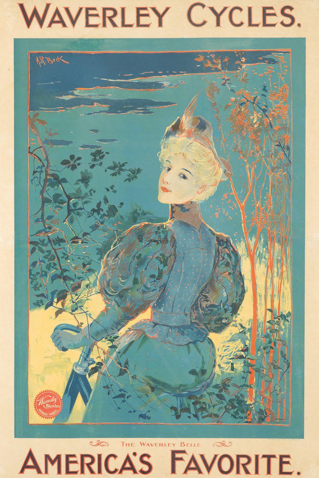 """20x30 1896 /""""Cycles De La Metropole/"""" Vintage Style Paris Bicycle Riding Poster"""