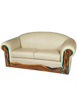 western southwest style leather love seat sofa leather sofa and rh pinterest com