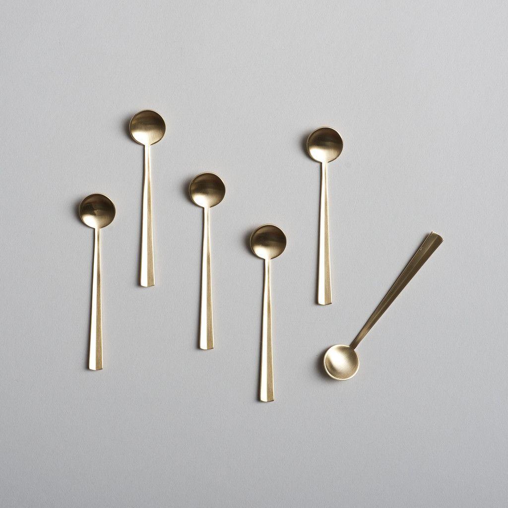 Nagaski Coffee Spoons In Stainless Steel Black Gold