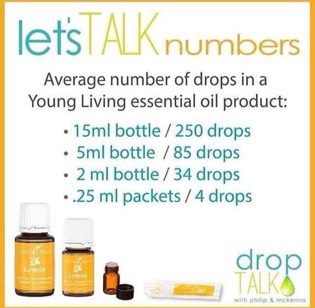 Young Living Essential Oils // how many drops in each bottle