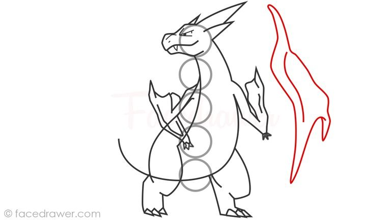How To Draw Mega Charizard Y From Pokemon X Y Step By Step