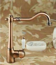 Bathroom Basin Faucet Antique Copper Finished Swivel Kitchen Sink