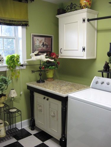Lime Green Laundryroom Southernhospitality Traditional Laundry Room Other Metro Southern Hospitality