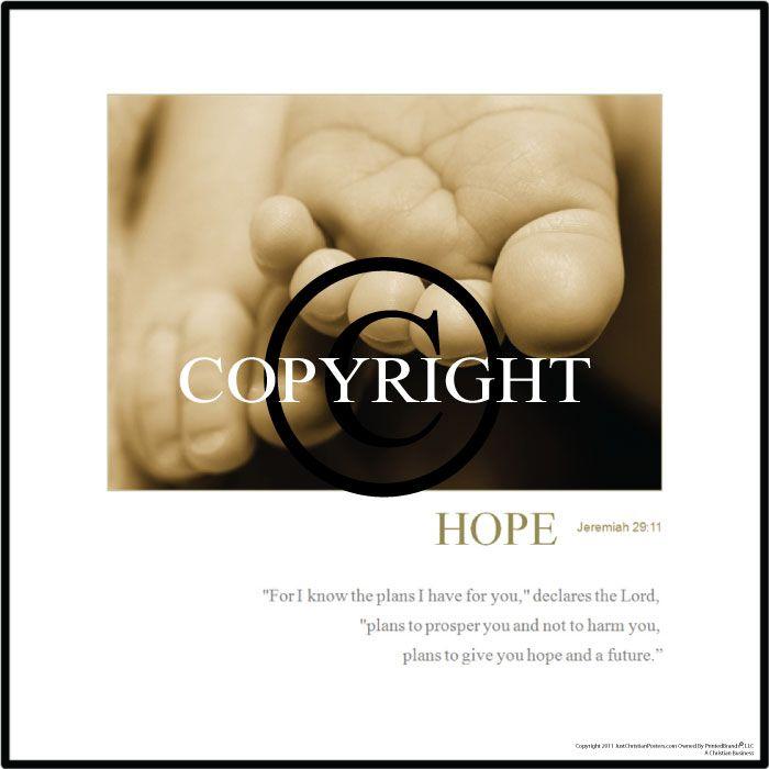 Inspirational Christian Hope Posters Jeremiah 29:11