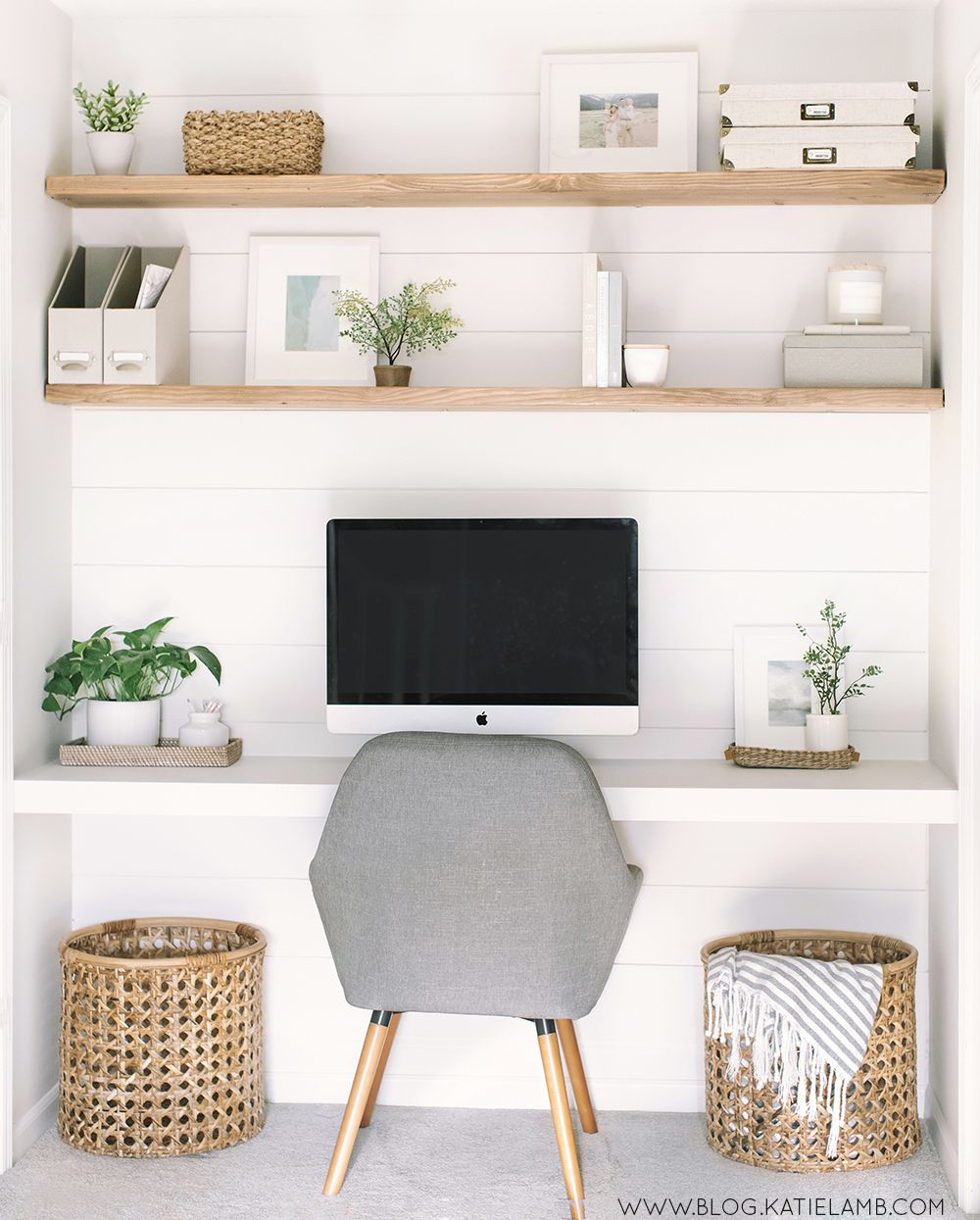 DIY Office and Floating Desk - Katie Lamb
