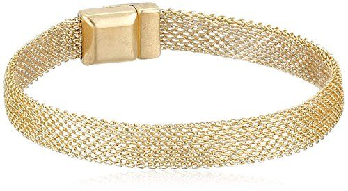 Kenneth Cole New York Gold Mesh Bracelet 7 Jewelry For Her