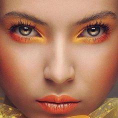 makeup eyeshadow orange - Buscar con Google
