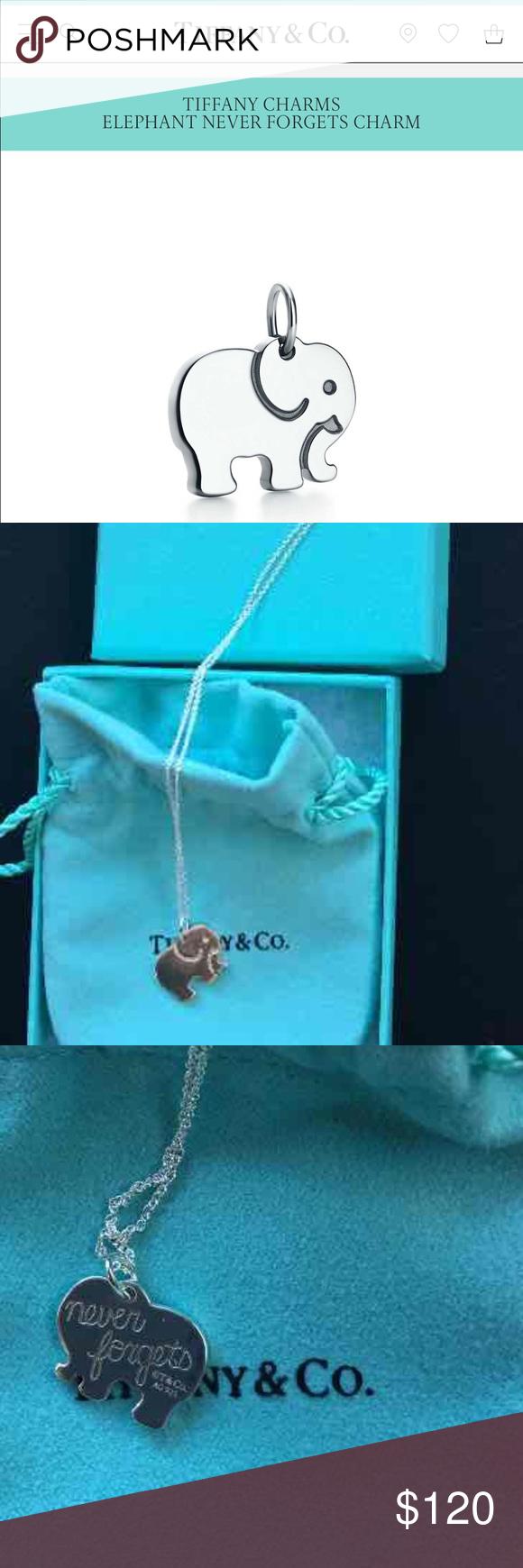 4f25b8eda445a Tiffany & Co. Elephant Never Forgets Charm 🐘 Beautiful BRAND NEW ...