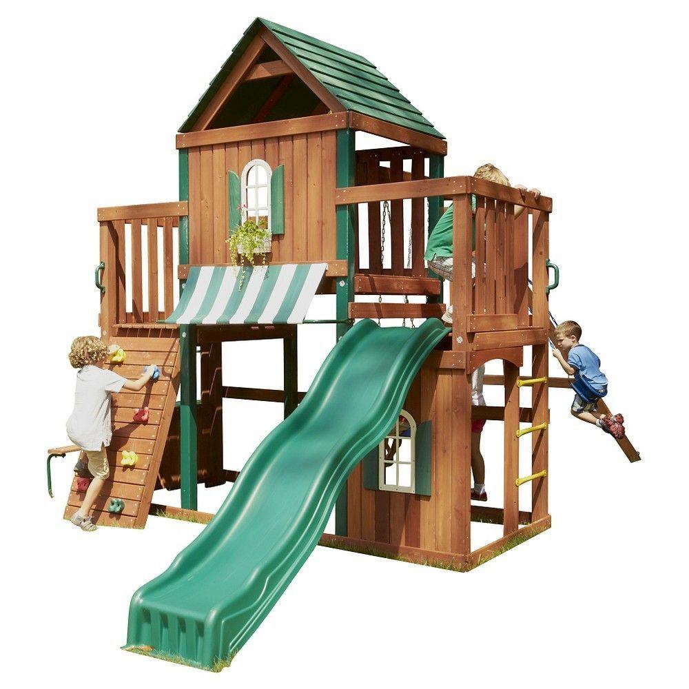 SwingNSlide Winchester Wooden Play Set Kit Play houses