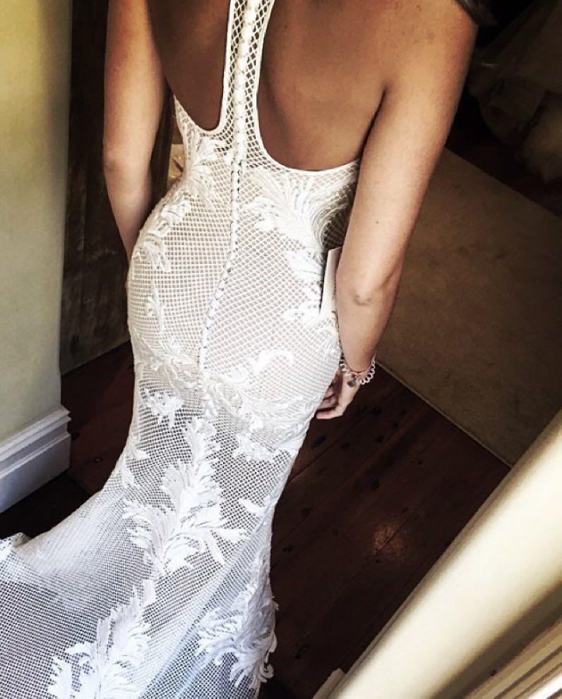 With a Racer Back @leahdagloria  #stylishweddings #leahdagloria #bride #bridal #custom #couture #couturebridal #coutureweddinggown #coutureweddingdress #lace #laceweddingdress #detailing #amazing #wedding #weddingday #weddinggown #weddingdress #detail #racerback #racerbackweddingdress #love by stylish.weddings