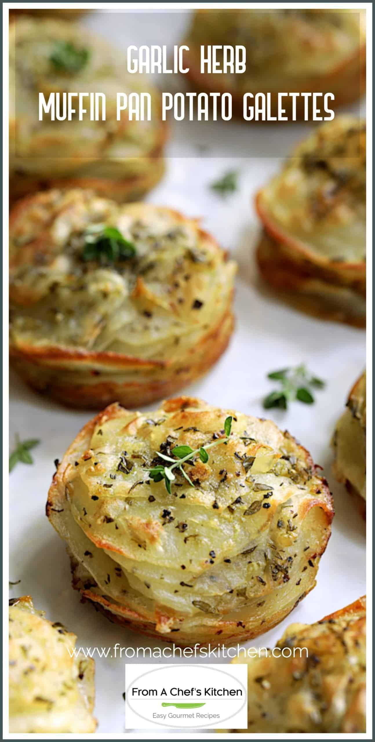 Garlic Herb Muffin Pan Potato Galettes